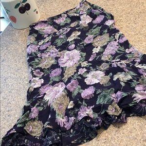 David Brooks Petites Small Reversible Floral skirt